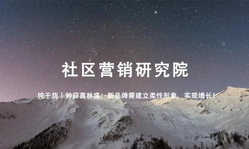 纯干货丨钟薛高林盛:新品牌需建立柔性形象,实现增长!